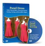 Panel Dress Sewing, Flared Skier, Princess Seams, Facing and Lining Video Lesson